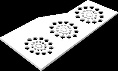 Перфорированный натяжной потолок изображение